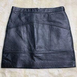 Madewell Black Leather Skirt Sz 4